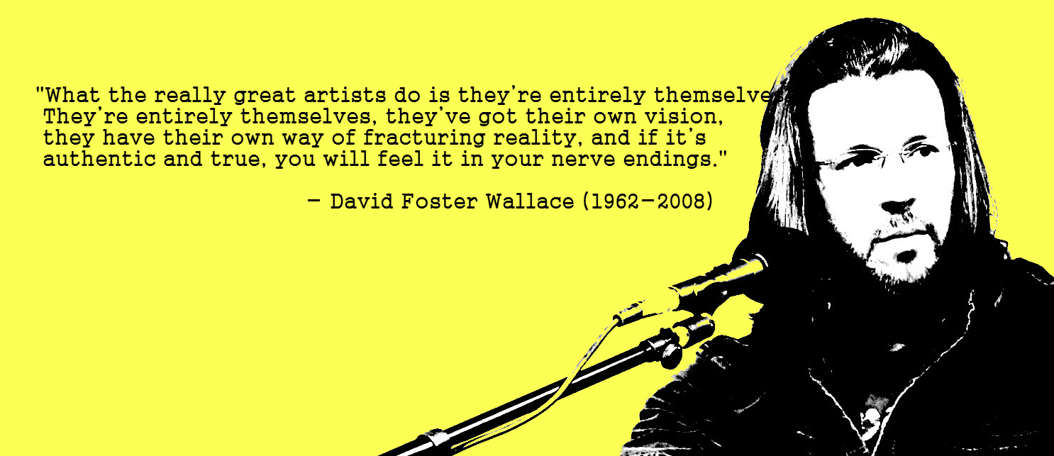 foster wallace essay Wallace jumps from formal descriptions and considerations of the english language to joking side comments about those who focus on the specifics of the langua.